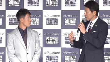 イベントに登場した錦織圭(左)と松岡修造さん(右)