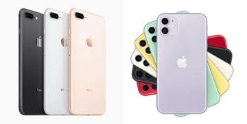 iPhone 8とiPhone 11