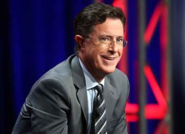BEVERLY HILLS, CA - AUGUST 10: Host, executive producer, writer Stephen Colbert speaks onstage during the 'The Late Show with Stephen Colbert' panel discussion at the CBS portion of the 2015 Summer TCA Tour at The Beverly Hilton Hotel on August...