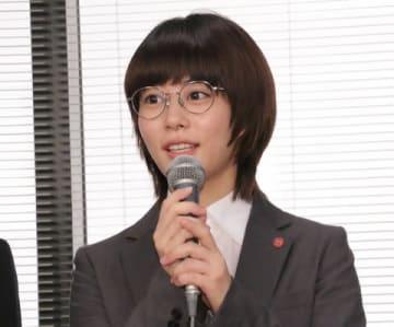 連続ドラマ「同期のサクラ」の会見に登場した高畑充希さん