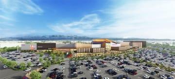 2021年夏に開業する「イオンモール白山(仮称)」の外観イメージ