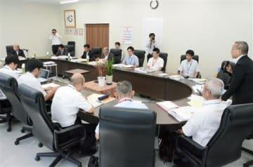 益城町の復興土地区画整理事業のうち、新たに4.3ヘクタールの仮換地案を承認した県審議会=25日、益城町