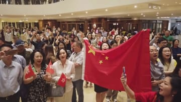 香港で愛国フラッシュモブイベント開催