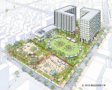 桜十字やJR九州などでつくる企業グループの開発計画のイメージ(JR九州提供)