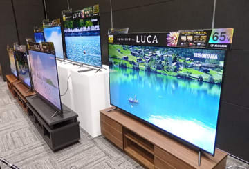 4K対応液晶テレビ「LUCAシリーズ」に2モデル7機種を追加