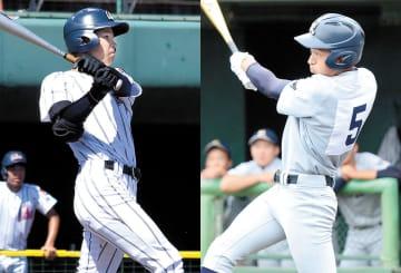 投打の要となる浦和学院・エースで5番の三奈木(左)と勝負強い打撃で好機をものにする西武台・4番松木(右)