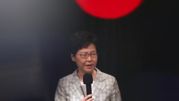 Carrie Lam. Photo: Apple Daily.