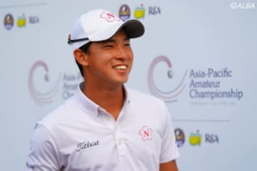 トータル5アンダー・5位タイで決勝ラウンドに進んだ桂川有人(撮影:ALBA)