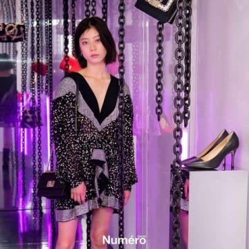 イタリア・ミラノで開催された「FURLA」の2019年秋冬コレクションの展示会にゲスト出演したSUMIREさん