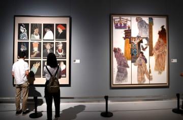 中国画作品展、山東美術館で開催