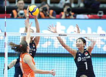 中国、オランダに勝利 女子バレーW杯