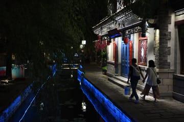 夜の百花洲歴史文化街区を散策 山東省済南市
