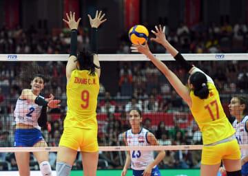 中国、セルビアに勝利し優勝決める 女子バレーW杯