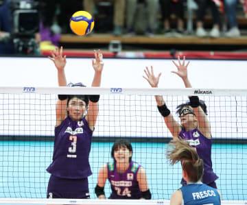 日本、アルゼンチンに勝利 女子バレーW杯