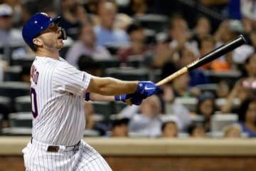 メジャー新人記録となる53本塁打を放ったメッツのピート・アロンソ【写真:AP】