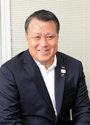 兵庫のサッカー界について期待を語る日本サッカー協会の田嶋幸三会長=神戸新聞社