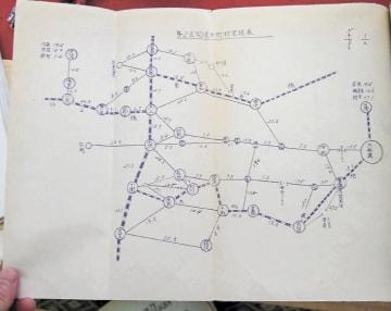 市町村間の移動距離を記した里程表(奥州市教委所蔵、伏見教授提供)