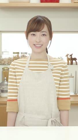 福原遥さんが出演する全保連のウェブムービー「キッチンのはるかさん」の一場面