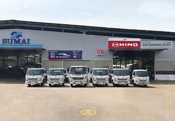 日野マレーシア販売がトレンガヌ州に初めて開設した3Sセンター(同社提供)