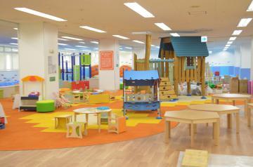 日立市がイトーヨーカドー日立店4階に整備した屋内型子どもの遊び場=同市幸町