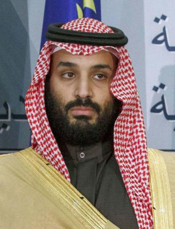 サウジアラビアのムハンマド皇太子(ゲッティ=共同)