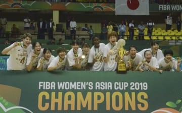日本、中国下し優勝 バスケ女子アジア杯