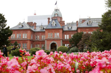 札幌市の国重要文化財「北海道庁旧本庁舎」=30日午後