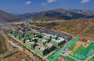 2022年北京冬季五輪・パラ張家口選手村、本体構造が完成