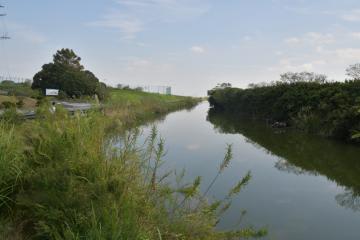 ロケが予定されている用水路=潮来市前川