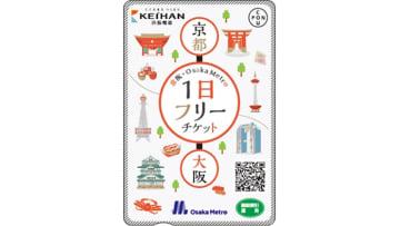 京阪・Osaka Metro 1日フリーチケットの様式 画像:Osaka Metro