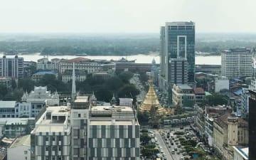 会社法の整備などで、世銀が「事業のしやすさランキング」で大幅に順位が上昇すると発表したミャンマー=ヤンゴン、今年1月(NNA)