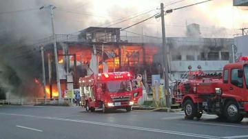 火災現場の様子
