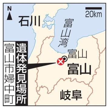 富山市婦中町、女児の遺体発見場所