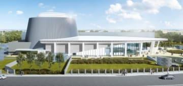 バラナシ国際協力・コンベンションセンターの完成予想図=JICA提供