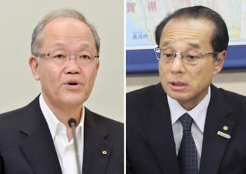 関西電力の豊松秀己元副社長(左)、鈴木聡常務執行役員