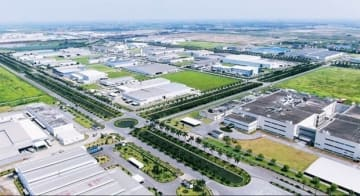 A view of Thang Long Industrial Park II after the first and second phases of development by Japan's Sumitomo Corp. outside Hanoi (Photo courtesy of Sumitomo Corp.)