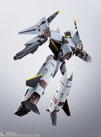 「マクロス」シリーズのVF-4G ライトニングIIIのアクションフィギュア「HI-METAL R VF-4G ライトニングIII」(C)1987 BIGWEST