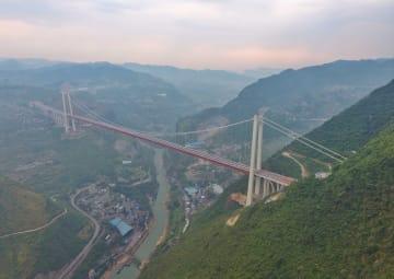 四川と貴州を結ぶ赤水河紅軍大橋が完成