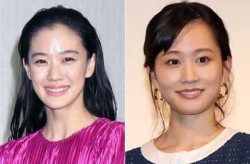 「第11回TAMA映画賞」の最優秀女優賞に選出された蒼井優さん(左)と前田敦子さん