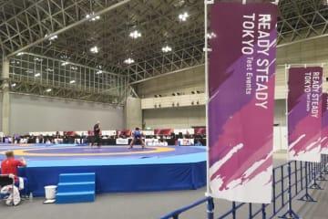 東京オリンピックの会場で行われたテスト大会