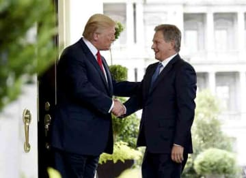 Donald Trump & President of Finland Sauli Niinistö on August 28, 2018
