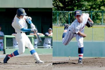 3試合で本塁打2本と好調な花咲徳栄・4番井上(左)、2試合連続で好救援した浦和学院・美又