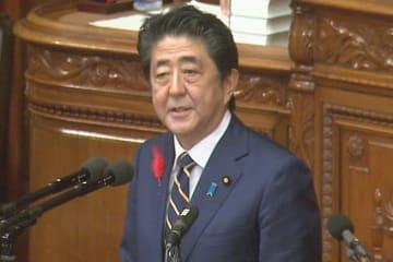 所信表明演説を行う安倍晋三首相(写真は首相官邸ウェブサイトから)