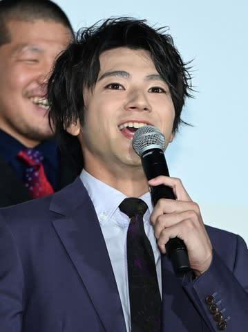 映画「HiGH&LOW THE WORST」の初日舞台あいさつに登場した山田裕貴さん