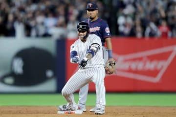 勝ち越し2点打を放ったヤンキースのグレイバー・トーレス【写真:Getty Images】