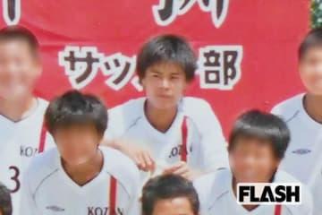 サッカー部に在籍していた中学2年時の田村