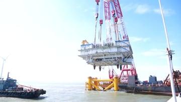 中国最大の洋上昇圧プラットフォームが完成 福建省