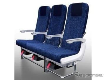 ANAとトヨタ紡織が共同開発した国内線普通席の新シート