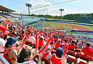 来年の東京五輪のテスト大会を兼ねて開催された日本女子ソフトボールリーグ。観客の声援が球場に響いた