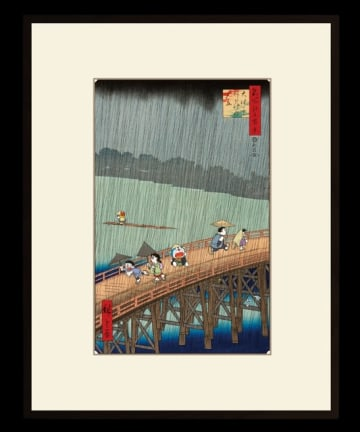 「ドラえもん浮世絵 名所江戸百景 大はしあたけの夕立」販売価格:50,500円(税込・送料込)(C)Fujiko-Pro